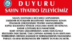 Eskişehir Şehir Tiyatroları Mayıs Sonuna Kadar Kapalı Kalacak