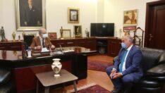 Han Belediye Başkanı Şanlı'dan Başkan Büyükerşen'e Ziyaret