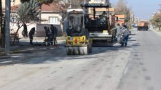 Mahmudiye'de Asfalt Çalışmaları Sürüyor
