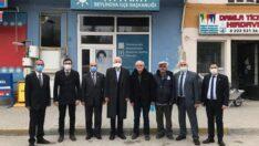 Kabukcuoğlu ve İl Yöneticileri Beylikova'da