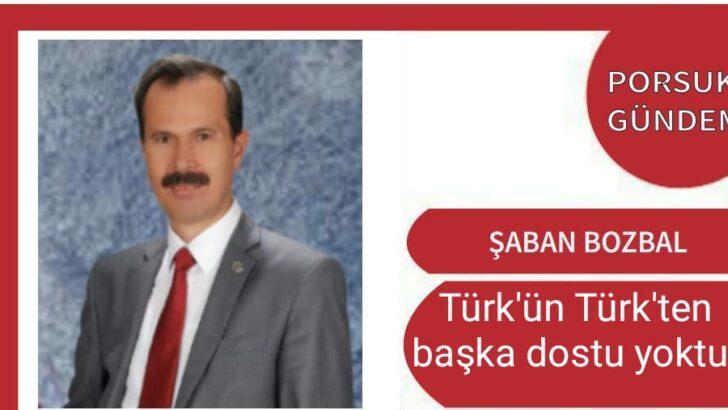 Türk'ün Türk'ten başka dostu yoktur.