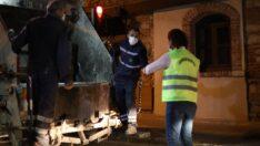 Odunpazarı'ndan gece mesaisinde olan emekçilere tatlı sürprizi