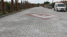 Mahmudiye' de Kilit Parke Taş Döşemeleri Tüm Hızıyla Sürüyor