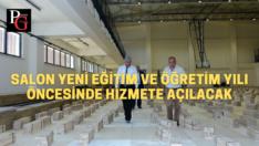 Başkan Küpeli spor salonunu inceledi