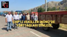 """Çiftçilerden CHP'li vekillere :""""Çiftçinin elinden tutan yok"""""""