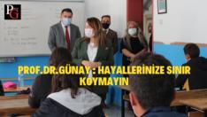 Prof. Dr. Günay'dan baba ocağında okul ziyareti