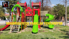 Mahmudiye'de Parklar Yenileniyor