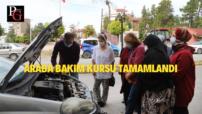 İnönü'de Araba Bakım Kursu Tamamlandı