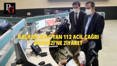 Başkan Ataç'tan 112 Acil Çağrı Merkezi'ne Ziyaret