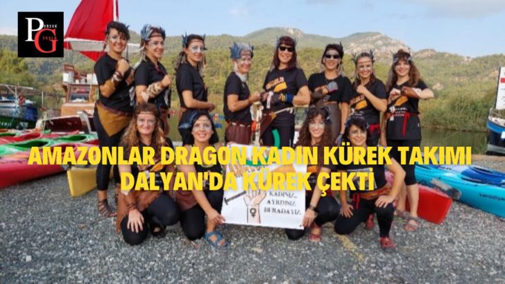 Amazonlar Dragon Kadın Kürek Takımı Dalyan'da Kürek Çekti