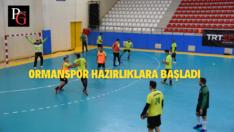 Ormanspor Trabzon Büyükşehir Belediyespor Maçı Hazırlıklarına Başladı