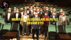Alpu'lu Muhtarlar Başkan Büyükerşen'le Görüştü